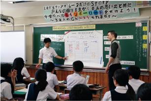 附属小学校での外国語の研究授業