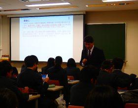 静岡県立藤枝西高等学校の生徒が来学されました
